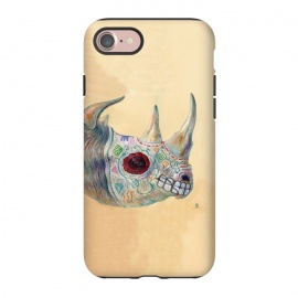 iPhone 8/7  Day of the Dead Rhino by Brandon Keehner