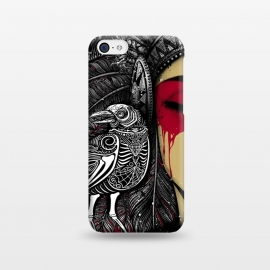 iPhone 5C  Winya 33 by Winya (animals nature,horror,women,indian,skull,skeleton,bone,cruel,amazon,eye,tattoo,culture,blood,revenge,girl,sexy,pinup,savage,kill,avengers,art line,nice,beautiful,chicano,neo traditional,tattoo style,wonderfull,line work,black white,biker,rocker,modern,indy,teen,day of the dead,animal,crow,bird,raven)