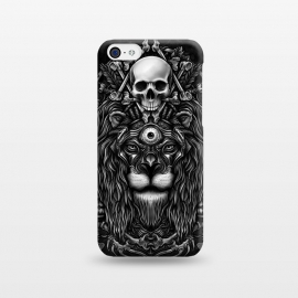 iPhone 5C  Winya 44 by Winya (lion,king,animal,leo,forest,guardian,big tiger,spirit,lion hearted,god,lion face,popular,best seller,awesome,death,dead,line work,baroque,art line,tattoo design,tattoo,skull,horror,pop culture,nature,dark,great,epic,halloween,indian,bone,canine,feather,amulets,charm,arrow,tongue,shaman,sorcerer,ghos)