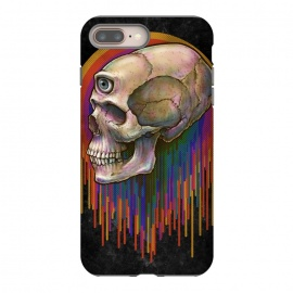 iPhone 8/7 plus  Winya 45 by Winya (skull,skeleton,color full,guardian,spirit,god,popular,best seller,awesome,death,dead,line work,baroque,art line,tattoo design,tattoo,horror,pop culture,nature,halloween,dark,great,bone,feather,amulets,charm,arrow,tongue,shaman,sorcerer,ghost doctor,black magic,voodoo,exorcist,evil,third eyes,death m)