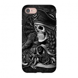 iPhone 8/7  Winya 52 by Winya (pirate,sea rover,buccaneer,mandala,skull,demon,halloween,sea,ship,horror,culture,blood,beautiful,sacred geometry,sacred,skeleton,bone,geometry,biker,rocker,metal,dead,fun,modern,indy,day of the dead,animal,tattoo,crow,bird,raven,flag,hell,night,dark,fantasy,goddess,fairy tale,fairy,myth,hook,captain)