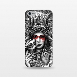 iPhone 5/5E/5s  Winya 55 by Winya (women,nature,horror,cruel,eye,tattoo,culture,art line,chicano,neo traditional,tattoo style,line work,indy,teen,hell,halloween,antler,horn,mind,heart,spirit,mentality,psych,tribal,demon,goddess,fairy,angel,fay,goat,satan,666,sick,blood,popular,baroque,sacred geometry,paradise,fantasy,mystical,dark,gr)