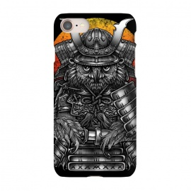 iPhone 8/7  Winya 63 by Winya (ronin,martial,katana,bushido,tattoo art,bird,owl,samurai,war,dark,art line,horror,animal,line work,spaulder,fighter,warrior,japan,suit of armor,hip ster,fantasy,monster,spirit,pop culture,surrealism,protective mask workwear,face guard sport,mask disguise,emperor,japanese culture,sword,ancient,cultur)