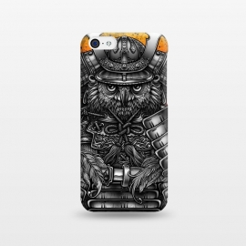 iPhone 5C  Winya 63 by Winya (ronin,martial,katana,bushido,tattoo art,bird,owl,samurai,war,dark,art line,horror,animal,line work,spaulder,fighter,warrior,japan,suit of armor,hip ster,fantasy,monster,spirit,pop culture,surrealism,protective mask workwear,face guard sport,mask disguise,emperor,japanese culture,sword,ancient,cultur)