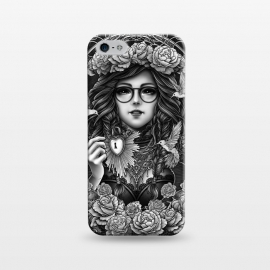 iPhone 5/5E/5s  Winya 84 by Winya (chicano,neo traditional,tattoo style,black and white,tattoo,surreal,witch,magic,occult,culture,art line,line work,death metal,death,baroque,victorian,streem punk,gothic,pop culture,dark,sacred geometry,fantasy,mystical,sacred,creepy,fairy,angel,myth,queen,roses,hummingbird,bird,animal,key,heart,glas)