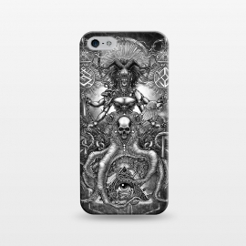 iPhone 5/5E/5s  Winya 85 by Winya (women,horror,bones,skull,black and white,spooky,tattoo,surreal,witch,halloween,magic,reaper,occult,skeleton,cruel,amazon,eyes,culture,girl,sexy,pinup,art line,line work,death metal,death,blind,baroque,victoria,streem punk,gothic,pop culture,triangle of light,triangle,third eyes,snake,cobra,owl,grave)