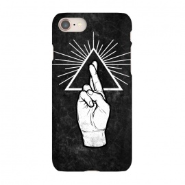 iPhone 8/7  Winya 87 by Winya (hand,finger,finger cross,cross,fingers crossed,triangle of light,triangle,nerd,pop culture,hipster,holy light,good luck,lucky)