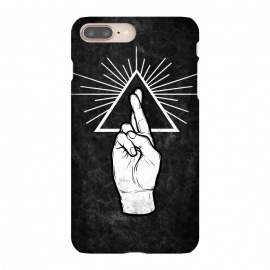 iPhone 8/7 plus  Winya 87 by Winya (hand,finger,finger cross,cross,fingers crossed,triangle of light,triangle,nerd,pop culture,hipster,holy light,good luck,lucky)