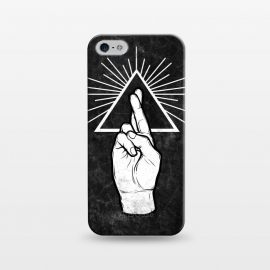 iPhone 5/5E/5s  Winya 87 by Winya (hand,finger,finger cross,cross,fingers crossed,triangle of light,triangle,nerd,pop culture,hipster,holy light,good luck,lucky)