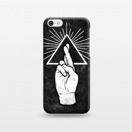 iPhone 5C  Winya 87 by Winya (hand,finger,finger cross,cross,fingers crossed,triangle of light,triangle,nerd,pop culture,hipster,holy light,good luck,lucky)