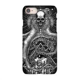 iPhone 8/7  Winya 89 by Winya (horror,bones,skull,black and white,spooky,tattoo,surreal,witch,halloween,magic,reaper,occult,skeleton,cruel,eyes,culture,art line,line work,death metal,death,blind,baroque,victoria,streem punk,gothic,pop culture,triangle of light,triangle,third eyes,dark,fantasy,mystical,sacred geometry,octopus,cree)
