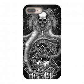 iPhone 8/7 plus  Winya 89 by Winya (horror,bones,skull,black and white,spooky,tattoo,surreal,witch,halloween,magic,reaper,occult,skeleton,cruel,eyes,culture,art line,line work,death metal,death,blind,baroque,victoria,streem punk,gothic,pop culture,triangle of light,triangle,third eyes,dark,fantasy,mystical,sacred geometry,octopus,cree)