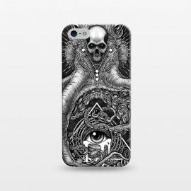 iPhone 5/5E/5s  Winya 89 by Winya (horror,bones,skull,black and white,spooky,tattoo,surreal,witch,halloween,magic,reaper,occult,skeleton,cruel,eyes,culture,art line,line work,death metal,death,blind,baroque,victoria,streem punk,gothic,pop culture,triangle of light,triangle,third eyes,dark,fantasy,mystical,sacred geometry,octopus,cree)