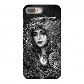 iPhone 8/7 plus  Winya 93 by Winya (chicano,neo traditional,tattoo style,black and white,tattoo,surreal,witch,magic,occult,culture,art line,line work,death metal,death,baroque,victorian,streem punk,gothic,pop culture,dark,sacred geometry,fantasy,diamond,mystical,sacred,creepy,fairy,angel,crow,rook,myth,queen,lion,roses,animal,lady,wom)