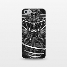 iPhone 5/5E/5s  Winya 95 by Winya (skull,reaper,lady,sexy,death,bdsm,vintage,old style,old school,baroque,victorian,streem punk,gothic,pop culture,dark,sacred geometry,fantasy,mystical,sacred,creepy,demon,evil,devil,cross,holy cross,obelus,chicano,neo traditional,tattoo style,bones,skeleton,black and white,tattoo,surreal,witch,magic,)