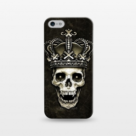 iPhone 5/5E/5s  Winya 96 by Winya (skull,death,reaper,vintage,old style,old school,baroque,victorian,gothic,pop culture,dark fantasy,mystical,creepy,demon,evil,devil,cross,holy cross,obelus,neo traditional,tattoo style,tattoo,surreal,witch,magic,occult,king,crown)