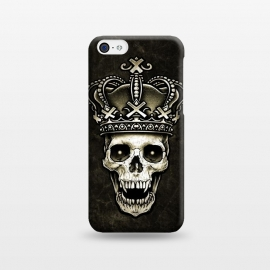 iPhone 5C  Winya 96 by Winya (skull,death,reaper,vintage,old style,old school,baroque,victorian,gothic,pop culture,dark fantasy,mystical,creepy,demon,evil,devil,cross,holy cross,obelus,neo traditional,tattoo style,tattoo,surreal,witch,magic,occult,king,crown)