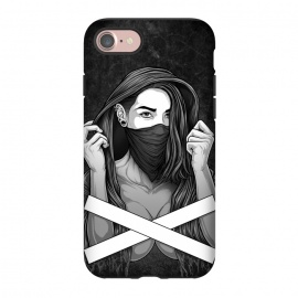 iPhone 8/7  Winya 100 by Winya (women,sex,pinup,manga,comics,tattoo design,art line,nice,line work,girl,lady,street art,hipster,sexy,beautiful,skateboard tee,skate wear,street wear,hip,street fashion,casual wear,skate clothing,rebellion,rebel,fight,gangster,chicano,tattoo style,black and white,bad ass,pop culture,punk,hip hop,ska,)