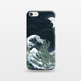 The Wave off R'lyeh  by Samiel Art (cthulhu,lovecraft,terror,horror,samiel,samielart,hokusai,great wave,kanagawa,japan,literature)