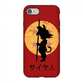 iPhone 7 StrongFit Looking for the dragon balls by Denis Orio Ibañez (goku,dragonball,dragon ball,anime,manga)