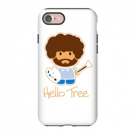 iPhone 8/7  hello tree by Manos Papatheodorou (art, bob ross, hello tree, hello kitty, funny,parody,happy little trees)