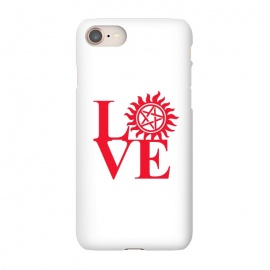 iPhone 7 SlimFit Love Hunting by Manos Papatheodorou (supernatural,spn,demon hunting,love,tv series,tv,winchesters)