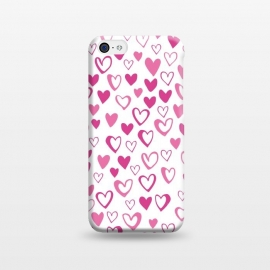 iPhone 5C  Lovehearts by Kimrhi Studios (Love,Lovehearts,heart,pink)
