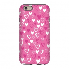 iPhone 6/6s  Pink Lovehearts by Kimrhi Studios