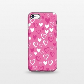 iPhone 5C  Pink Lovehearts by Kimrhi Studios