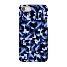 iPhone 8/7  Shattered Nights by Amaya Brydon (blue,geometric,squares,watercolor)