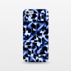 iPhone 5/5E/5s  Shattered Nights by Amaya Brydon (blue,geometric,squares,watercolor)