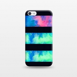 iPhone 5C  Underwater Light by Amaya Brydon (ocean,stripes,pink,green,water,underwater,geometric)