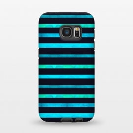 Galaxy S7 StrongFit Surf Stripes by Amaya Brydon (surf,stripes,ocean,geometric,abstract)