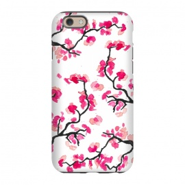 iPhone 6/6s StrongFit Japanese Cherry Blossoms by Amaya Brydon (cherry,cherryblossoms,japanese,pink,floral,japan,branches)