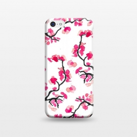 iPhone 5C  Japanese Cherry Blossoms by Amaya Brydon (cherry,cherryblossoms,japanese,pink,floral,japan,branches)