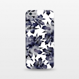 iPhone 5/5E/5s  Night Orchid by Amaya Brydon (floral,orchid,flower,pattern,black,grey,navy)
