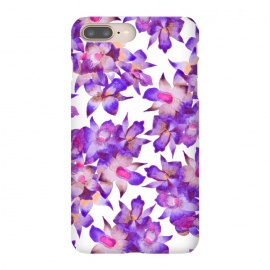 iPhone 7 plus  Vintage Floral Violet by Amaya Brydon (orchid,floral,nature,purple,pink,botanical)