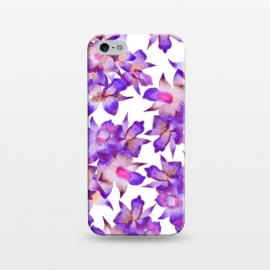 iPhone 5/5E/5s  Vintage Floral Violet by Amaya Brydon (orchid,floral,nature,purple,pink,botanical)
