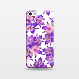 iPhone 5C  Vintage Floral Violet by Amaya Brydon (orchid,floral,nature,purple,pink,botanical)