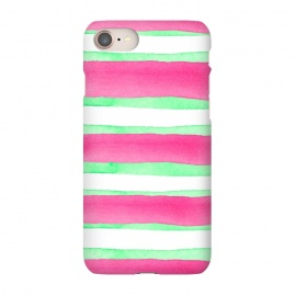 iPhone 8/7  Peppermint Candy by Amaya Brydon (peppermint,stripes,green,pink,summer)