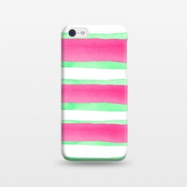 iPhone 5C  Peppermint Candy by Amaya Brydon (peppermint,stripes,green,pink,summer)