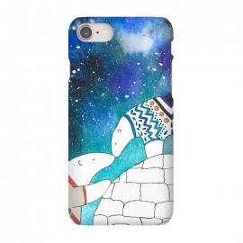 iPhone 8/7  Love Under The Stars by Amaya Brydon (polarbear,bear,love,sky,north,igloo,winter)