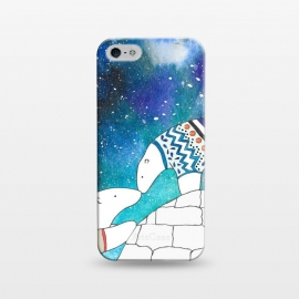 iPhone 5/5E/5s  Love Under The Stars by Amaya Brydon (polarbear,bear,love,sky,north,igloo,winter)