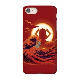 iPhone 8/7  Surfing with the Alien by Samiel Art (samiel,samielart,silver surfer,galactus,comic,comics,hokusai,great wave,kanagawa,japan art,surf,landscape)
