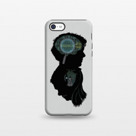 iPhone 5C StrongFit Mind and Heart by Samiel Art (samiel,samielart,sherlock,holmes,watson,silhouette,detective,movies,pop culture)