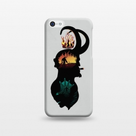 iPhone 5C  Paranormal Agents by Samiel Art (samiel,samielart,hellboy,comic,comics,mignola,abe sapien,monsters,sherlock holmes,detectives ,silhouettes)