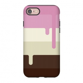 iPhone 8/7  Neapolitan Ice Cream by Dellán (Ice cream, neapolitan,summer,spring,cold,gender neutral,gourmet,fresh,ice pop)