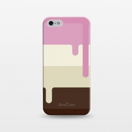 iPhone 5/5E/5s SlimFit Neapolitan Ice Cream by Dellán (Ice cream, neapolitan,summer,spring,cold,gender neutral,gourmet,fresh,ice pop)