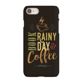 iPhone 8/7  Book, Rainy Day & Coffee (a master blend) by Dellán (Coffee, book,rain,cold,pleasure,good vibes,gourmet,reading,geek)