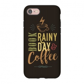 iPhone 8/7  Book, Rainy Day & Coffee (a master blend) by Dellán